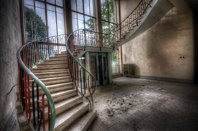 Absence Digital Art - Water Pump Stairs by Nathan Wright