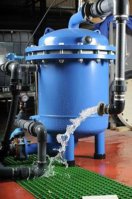Emptying Photograph - Water Purification System by Photostock-israel