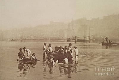 Beach Photograph - Water Rats by Frank Meadow Sutcliffe
