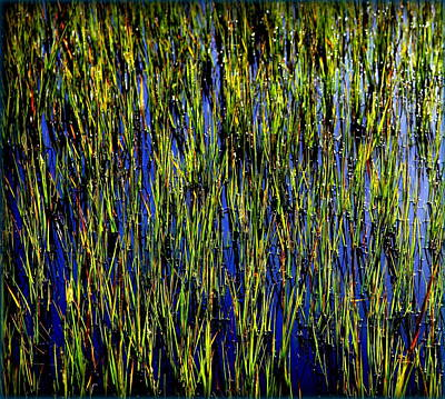 Abstract In Nature Photograph - Water Reeds by Karen Wiles