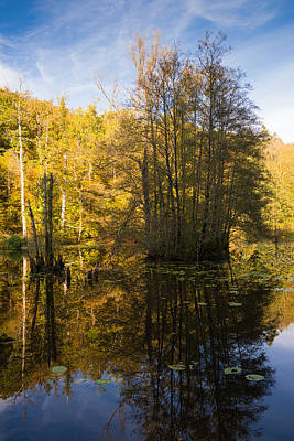 Photograph - Water Reflection In Autumn by Matthias Hauser