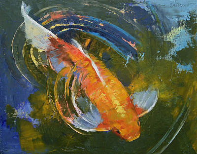Pond Painting - Water Ripples by Michael Creese