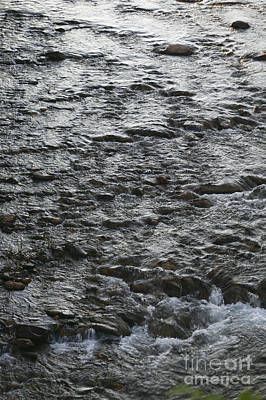 Photograph - Water Running Over Pebbles by Don Landwehrle