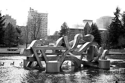 Pittsburgh According To Ron Magnes - Water Sculpture in Spokane by Carol Groenen