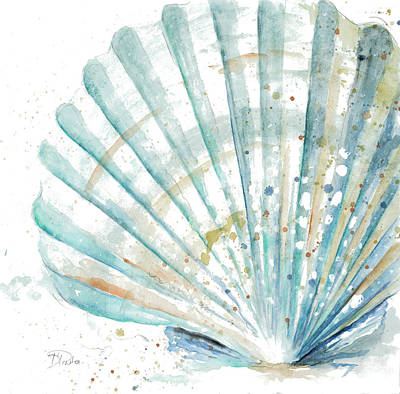 Water Shell Art Print by Patricia Pinto