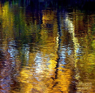 Photograph - Water Show Gold Square by Jacqueline M Lewis