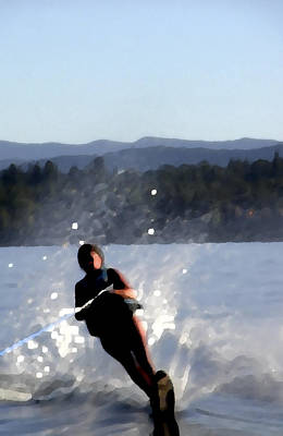 Jerry Sodorff Royalty-Free and Rights-Managed Images - Water Skier by Jerry Sodorff