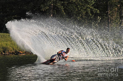 Wakeboard Photograph - Water Skiing 12 by Vivian Christopher