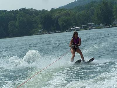 Photograph - Water Skiing Is Fun by Lila Mattison