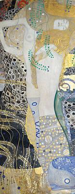 Klimt Painting - Water Snakes by Gustav Klimt