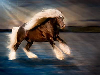 Gypsy Vanner Digital Art - Water Spirit by Karen  Wegehenkel