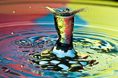 Photograph - Water Splash Art by Anthony Sacco