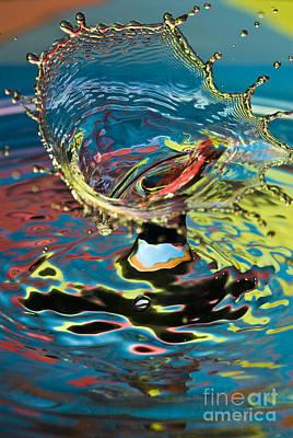 Water Splash Exploding Art Print