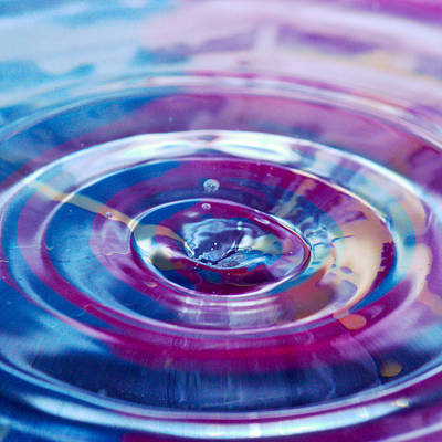 Photograph - Water Splash Rings by Crystal Wightman