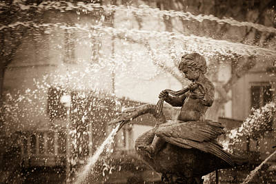 France Provence Photograph - Water Sprite In The Fontaine De La Rotonde by W Chris Fooshee