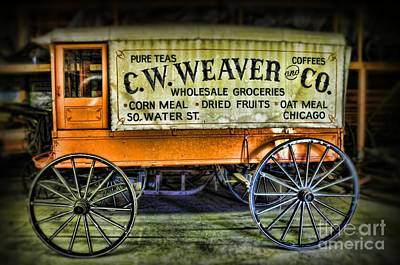 Antique Wagons Photograph - Water St. -  Chicago - The Salesman  by Paul Ward