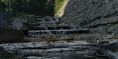 Photograph - Water Steps 2 by Mark Minier