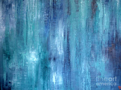 Painting - Water Streams by Jeremy Aiyadurai