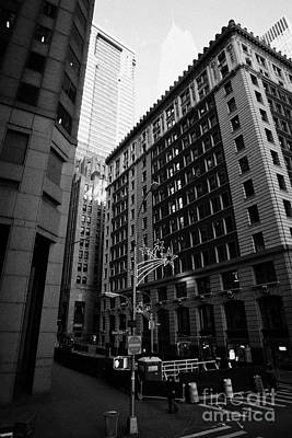 Crosswalk Photograph - Water Street Entrance To Wall Street Junction Financial District New York City by Joe Fox