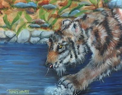 Water Tiger Art Print