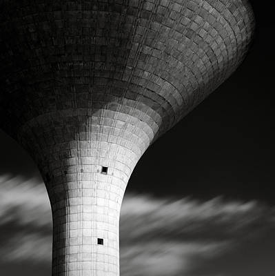 Water Tower Print by Dave Bowman