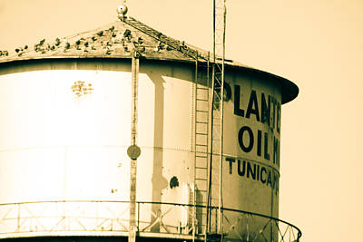 Photograph - Water Tower In Sepia by Audreen Gieger