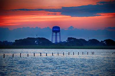 Art Print featuring the digital art Water Tower by Michael Thomas
