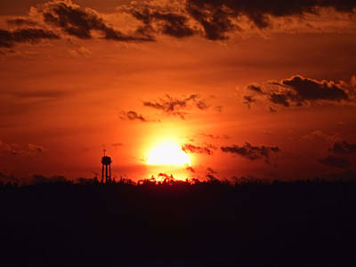 Duluth Photograph - Water Tower Sunset by Alison Gimpel