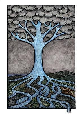 Environment Mixed Media - Water Tree by Ricardo Levins Morales
