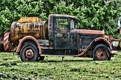 Photograph - Water Truck by Ron Roberts