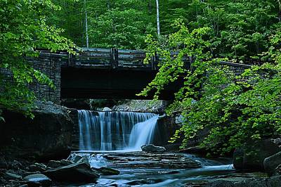 Photograph - Water Under The Bridge At Miners Run #1 by Joel E Blyler