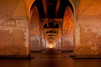 Photograph - Water Under The Bridge - Tulsa Oklahoma Bridge by Gregory Ballos