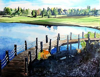 Water Valley Golf Art Print by Tom Riggs