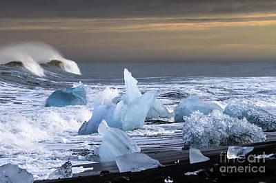 Art Print featuring the photograph Water Versus Ice by Gunnar Orn Arnason