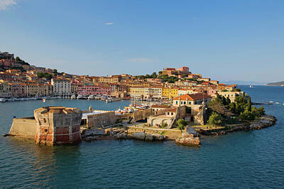 Hill Town Photograph - Water View Of Portoferraio, Province by Panoramic Images