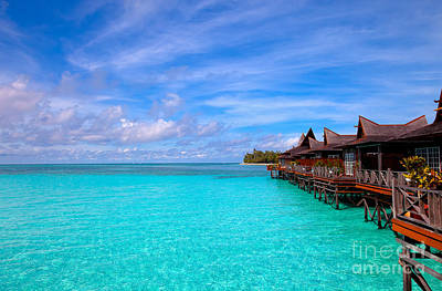Water Village On Tropical Island Print by Fototrav Print
