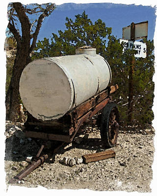 Photograph - Water Wagon by Timothy Bulone