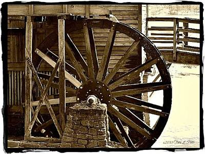 Art Print featuring the photograph Water Wheel At The Grist Mill by Tara Potts