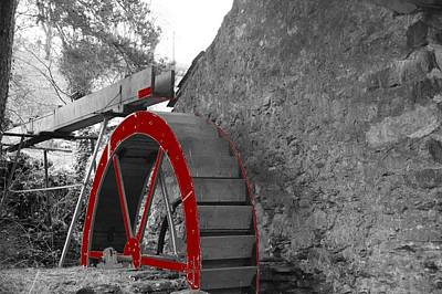 Print featuring the photograph Water Wheel.  by Christopher Rowlands