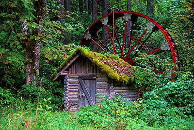 Photograph - Water Wheel by Daniel Woodrum