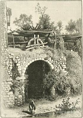 Water Jars Photograph - Water Wheel In Egypt, 1880s by Dorot Jewish Division