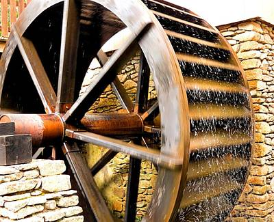 Photograph - Water Wheel by Janice Drew