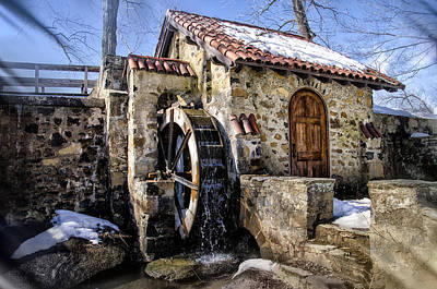 Water Wheel Mill At Eastern College Art Print by Bill Cannon