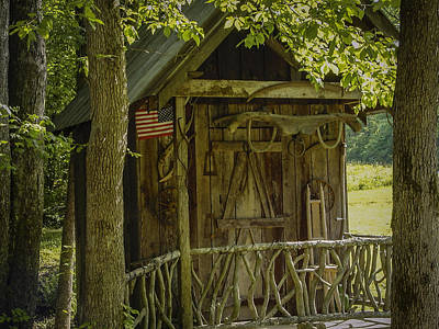 Photograph - Water Wheel Shed I by Robert J Andler