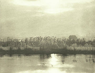 Water With Cornfield, Peter Henry Emerson Art Print