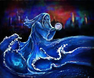 Digital Art - Water Wizard by Rick Mosher