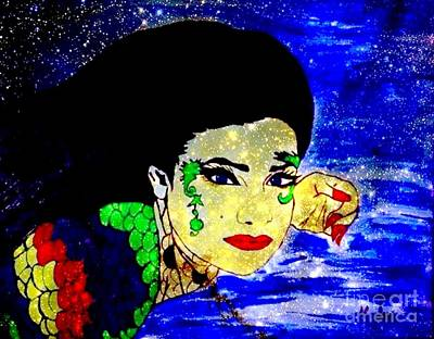 Painting - Water Woman And Stars by Saundra Myles