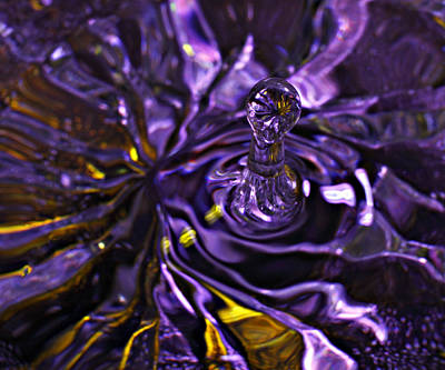 Photograph - Water Works 01 - The Color Purple by Randy Grosse