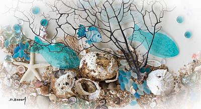Sea Weed Mixed Media - Water World Series 2 by Dawn Broom