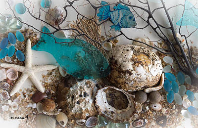 Sea Weed Mixed Media - Water World Series 3 by Dawn Broom